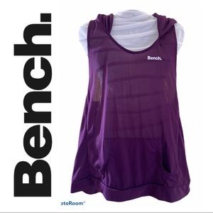 Bench Racerback Tank Top with Hoodie